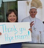 Jessie Dye thanks Pope Francis